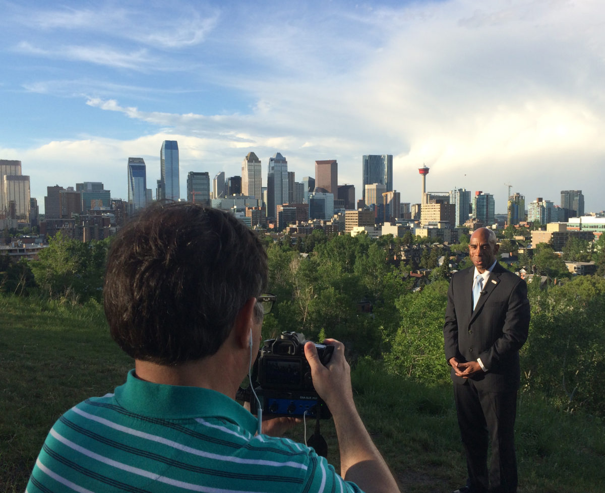 KSPS General Manager Gary Stokes in Calgary